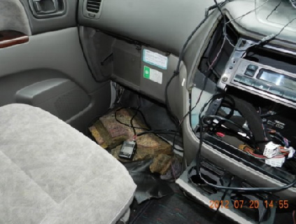 車内への設置