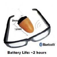 眼鏡型のBluetooth通信機器と無線イヤホン