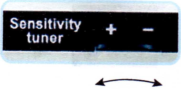 検出感度の可変調整機能能
