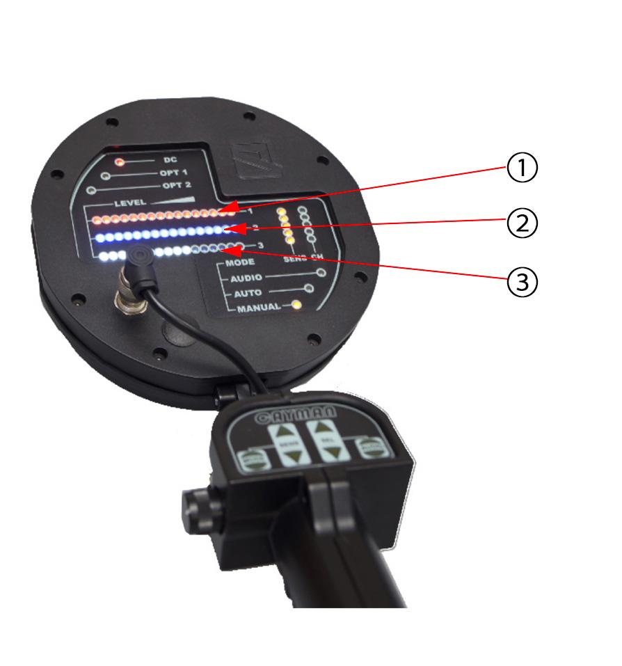 リピート信号波の受信モニター表示例