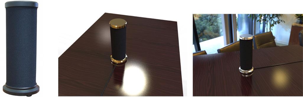 卓上据え置き円筒形スピーカー型オーディオジャマー