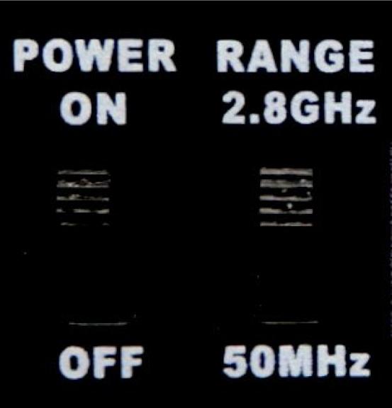 検出周波数レンジ切り替え機能