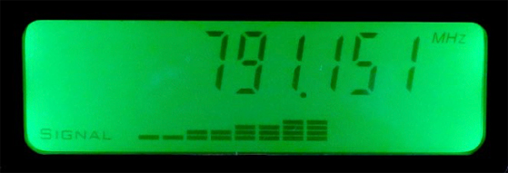 検出周波数/電界強度の表示機能